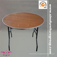 Fabriqué à partir de la table pliante de banquet SinoFur Wood
