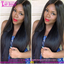 Fashion 100% silk top lace front wig virgin brazilian hair silk top wig