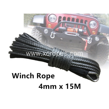 4mm x 15m UHMWPE Synthetic Winch Rope/Line