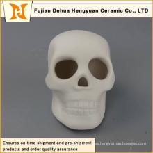 Decoración de Halloween de cráneo de cerámica blanca
