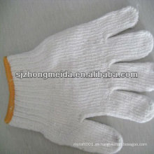 guante hecho punto guante de seguridad de trabajo guante tejido de algodón calibre 10