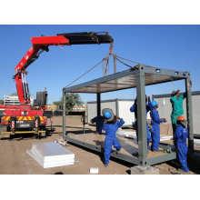 Fácil instalação e transporte de mercadorias para trabalhadores em contêineres planos