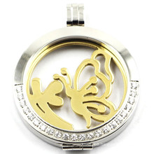 Most Popular Stainless Steel Locket Pendant with Coin Plates