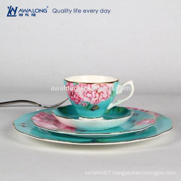 light blue elegance dinner sets for one person ceramic dinnerware