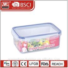 Transparente Kunststoff-Lebensmittel luftdicht Rechteckcontainer
