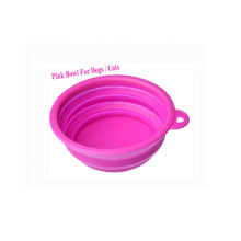 Custom 350mL Foldable Silicone Pet Water Bowl Collapsible Travel Dog Bowl