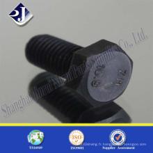 Boulon hexagone de revêtement de pH noir (DIN933 grade 10.9)
