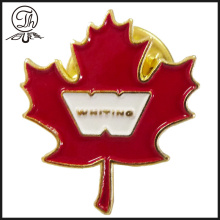 Crachás de pin metálico personalizados Maple Leaf