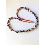 Handmade Blue And White Porcelain Crafts Necklace Jewelry (FN-095)