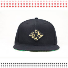 Kundengebundene Entwurfs-leere Acrylhysteresen-Hüte mit Leopard-Leder-Rand