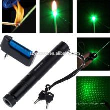 532nm-10-Mile-5mw-303-Pointeur laser vert Lazer Pen Beam Light-18650-Chargeur 532nm-10-Mile-5mw-303