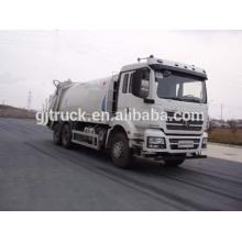 Shacman marca 6X4 unidad compresor camión de basura para 10-22 metros cúbicos