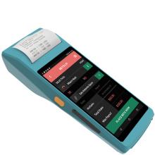 PDA tenu dans la main rocailleux de scanner de code barres d'écran tactile