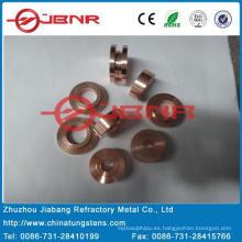 W50cu50 de punta de contacto de tungsteno con ISO9001 de Zhuzhou Jiabang