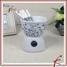 Heiße empfehlende Keramik Raclette Schokolade Fondue Set