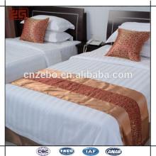 Cama, jogo, cama, bandeira, decorado, hotel, cama, lenço