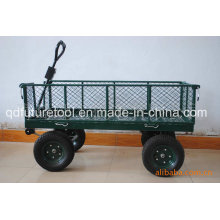 Garden Tool Cart with Four Wheels