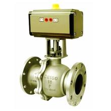 Hard seal pneumatic ball valve