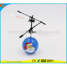 Hot Selling Interesting Mini Flying Ball Toy Santa Claus Heli Ball Christmas Gift for Kid