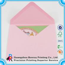 Высокое качество оптовая продажа офсетная печать изготовленный на заказ бумажный конверт