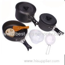 New Design Family Cooking Kitchenware Outdoor Camping Picnic Cooking Pot & Tableware Set Ds-300