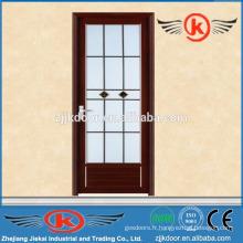 JK-AW9012 design moderne en aluminium à portes intérieures en verre