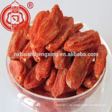 BCS Certified Bayas secas orgánicas de Goji Ningxia Gojiberry orgánico