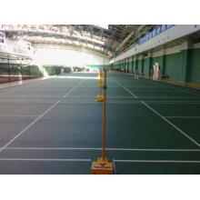 O revestimento de alta qualidade dos esportes do PVC do certificado de Bwf usou à corte de badminton a espessura de 4.5mm / de 5mm