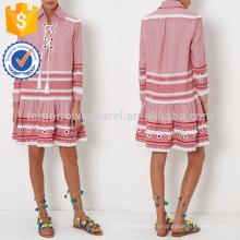 Vestido rojo y blanco estampado de Kaftan de la nueva manera DOM / DEM Fabricación al por mayor Ropa de las mujeres de la manera (TA5301D)