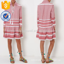 New Fashion Red And White Printed Kaftan Dress DOM/DEM Manufacture Wholesale Fashion Women Apparel (TA5301D)