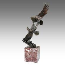 Tiergarten Skulptur Eagles Dekoration Bronze Statue Tpal-201