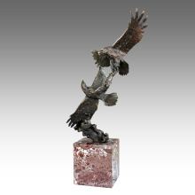Jardin animal Sculpture Eagles Décoration Statue en bronze Tpal-201