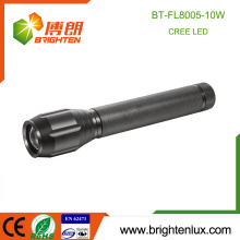 Factory Supply 3C cell Operated Aluminum Heavy Duty Zoom Focus 1000m long Range 10w Cree High Power Led Torch Flashlight