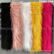 Long Pile Natural Mongolian Fur Scarf Eswj-24A