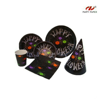 Halloween Children's Disposable Tableware Set