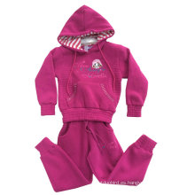 Ropa para niños Invierno Sudaderas con capucha de lana en niños Ropa Deporte trajes Swg-106