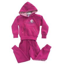Hoodies do velo do inverno do vestuário da criança em ternos Swg-106 do esporte da roupa das crianças