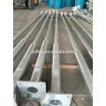 octagona galvanized steel street light lamp pole round