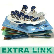 Estupendo mono de alta calidad de diseño personalizado Hard Cover niños Pop Up Book