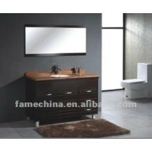 2012 últimos diseños del cuarto de baño vanidad de madera del cuarto de baño