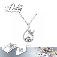 Destin bijoux cristal de Swarovski Collier pendentif Dauphin de sourire