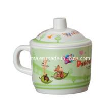 100% меламин посуда - детская посуда кружка с крышкой Поставщик/посуды (pH612S)