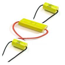 Yellow 505j100V Cbb20 Axial Type Polypropylene Film Capacitor