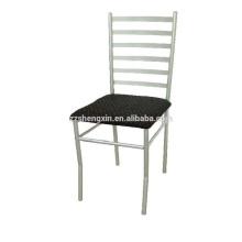 Cadeira de jantar de hotel, caixinha de aço para tubos de metal para a frente