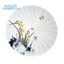 Хорошее качество Оптовая продажа OEM Подгонянные Китай традиционные Свадебные печать ремесло деревянной ручкой из бамбука Антикварная масла бумажный зонтик