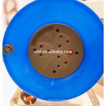 carretel de cabo plástico do Reino Unido; carretel de cabo europeu com soquete ip44 BSI