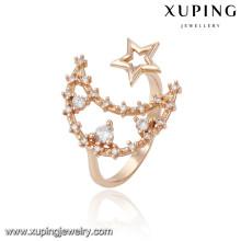 13800 xuping moda novo projetado 18k anel de dedo lindo ouro