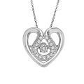 Hot Sales Heart 925 Sterling Silver Micro Set Pendentifs Bijoux