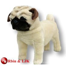 ICTI Audited Fábrica peluche perro pug juguete suave