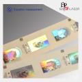 Holograma de logotipo personalizado etiqueta de vestuário de carimbo quente